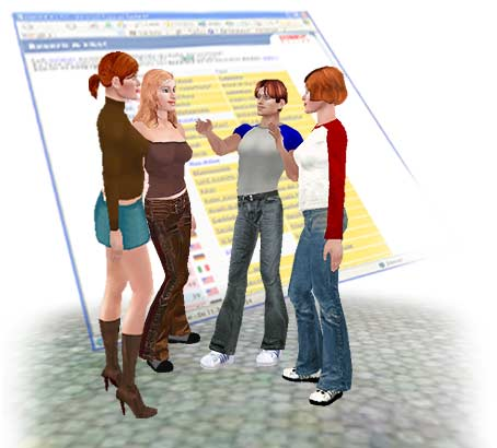 Virtual 3D Chat in Your Virtual moove World